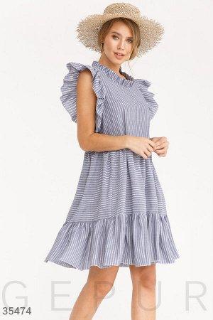 Полосатое платье oversize