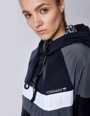 U05101FS-BG182 Куртка спортивная унисекс (черный/серый), M, шт