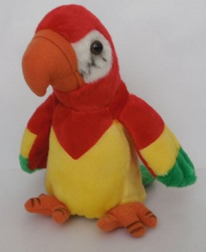 Интерактивная мягкая игрушка-повторюшка Попугай
