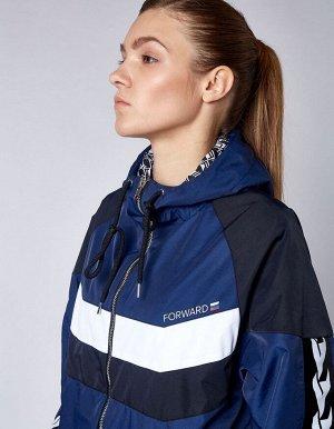 U05101FS-NB182 Куртка спортивная унисекс (синий/черный), XS, шт