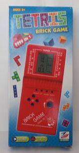 Тетрис Электронная игра Тетрис надписи на кнопках перепутаны вкл/выкл и звук размер 6,5*2,5*14