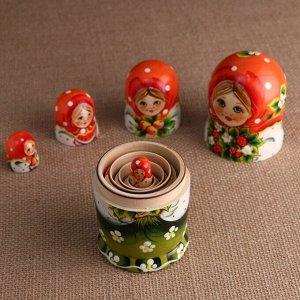 """Матрёшка """"Эля с букетом"""", 5 кукольная, 15 см"""