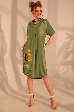 Платье Платье Golden Valley 4688 №2  Состав ткани: ПЭ-85%; Спандекс-15%;  Рост: 164 см.  Платье прямого силуэта, без застежки, с втачным воротником с отрезной стойкой. По переду с втачной планкой, на