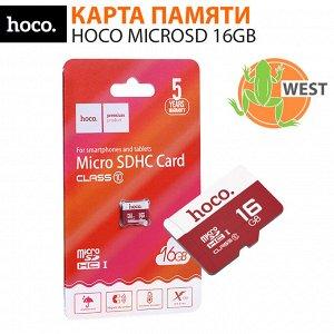 Карта памяти MicroSD 16GB HOCO Class 10