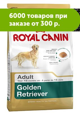 Royal Canin Golden Retriver сухой корм для Голден Ретриверов старше 15 месяцев, 3кг АКЦИЯ!