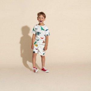 Детская пижама Бумажный зоопарк.