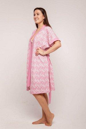 Домашний халат Dom Цвет: Красно-Фиолетовый. Производитель: Zarka