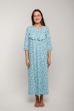 Ночная сорочка Janetta Цвет: Пастельно-Бирюзовый. Производитель: Zarka