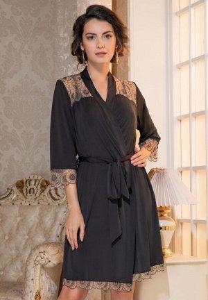 Домашний халат Heidi Цвет: Черный. Производитель: Mia-Amore