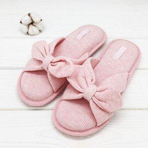 Тапочки Трикотажные Бантики Цвет: Розовый. Производитель: Halluci