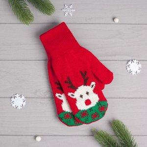 Варежки Christmas Deer Цвет: Красный (19). Производитель: KAFTAN