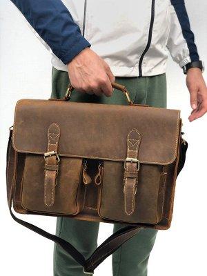 Мужская кожаная бизнес сумка ❗️ВИДЕООБЗОР❗️