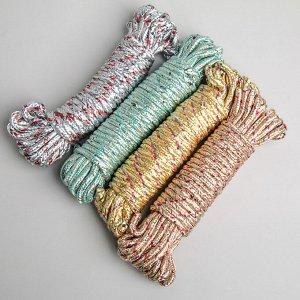 Верёвка бельевая Доляна, d=6 мм, длина 10 м, цвет МИКС