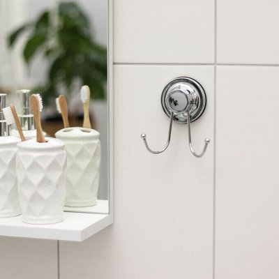 Красивая и удобная ванная — Держатели для ванных принадлежностей, полки, крючки