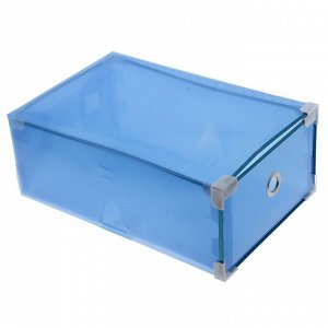 """Короб для хранения выдвижной 22х34х13 см """"Моно"""" цвет синий"""