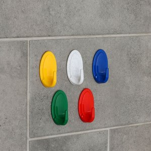 Крючок на липучке IDEA, 50 шт, цвет МИКС