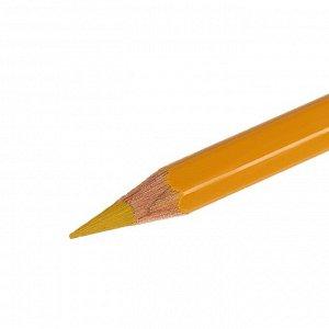 Карандаш акварельный Koh-I-Noor Mondeluz 3720/028, охра золотая, 175 мм, грифель 3.8 мм, ЦЕНА ЗА 1 ШТ