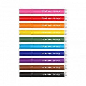 Набор для творчества, фломастеры для ткани 10 цветов + 3 трафарета Artberry, линия 1.0-7.0 мм