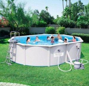 Стальной овальный бассейн