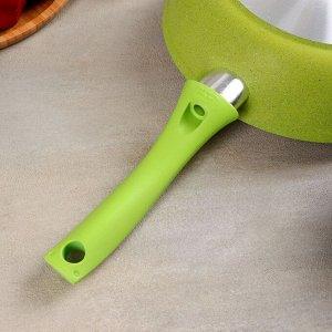 Сковорода Trendy style, d=24 см, с ручкой, АП линия, цвет лайм