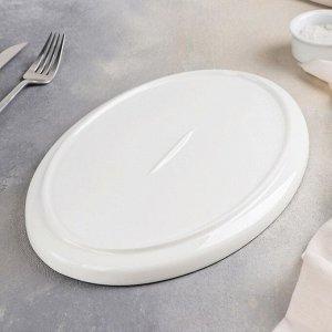 Блюдо для подачи «Фронтьер», 30,5?20?2 см, цвет белый