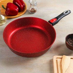 Сковорода 28 см, антипригарная, литая, индукционное дно, съёмная ручка
