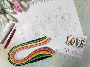Набор для творчества Картина квиллинг LOVE