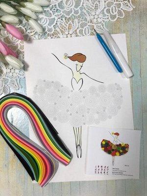 Набор для творчества Картина квиллинг Балерина