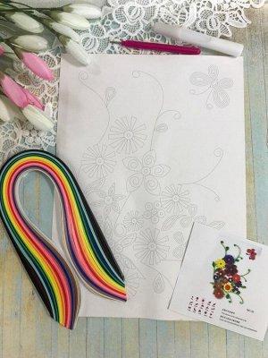 Набор для творчества Картина квиллинг Полевые цветы