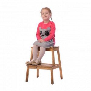 Платье детское арт.923п-малина_меланж_панда