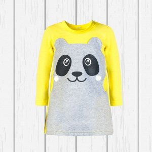 Платье детское арт.923п-лимон_меланж_панда