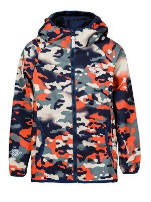 Куртка В19042 Темно синий камуфляж