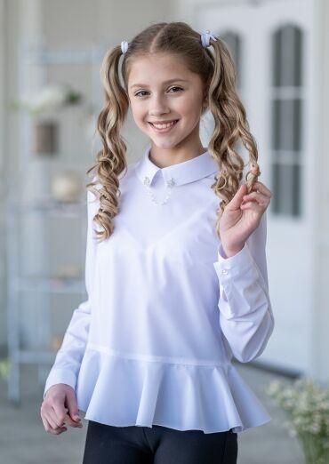 28*В школу, в садик и на праздник! Форма, банты, юбки и др — Блузки — Одежда для девочек