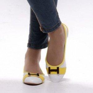 Балетки Страна производитель: Китай Сезон: Лето Тип носка: Закрытый Цвет: Желтый + белый, Желтый + белый, Белый, Белый, Белый, Белый, Белый Полнота обуви: Тип «F» или «Fx» Каблук/Подошва: Плоская подо