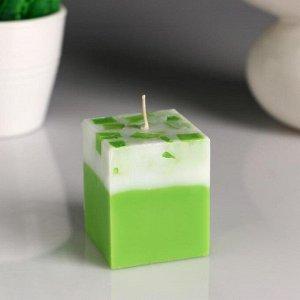 """Свеча- куб """"Жасмин- Зелёный чай"""" ароматическая, 5?6 см"""