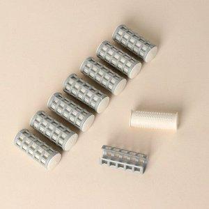 Термобигуди с фиксатором, d = 2,1 см, 8 шт, цвет МИКС