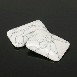 Кабошон прямоугольник 25*35мм (набор 2шт), под кахолонг