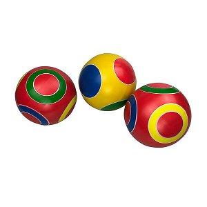 """Р3-125 Мяч д. 125мм """"Фонарик""""; """"Светофор""""; """"Колечко""""/ Серия """"Кружочки"""" ручное окраш."""