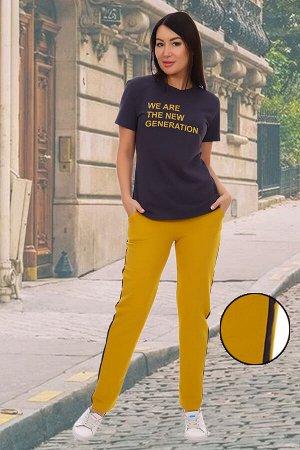 Костюм Данный товар в одной расцветке. состав: хлопок 92%, лайкра 8%, ткань: футер с лайкрой 2-х нитка . Стильный молодежный костюм с ярким принтом на футболке и лампасами на брюках.