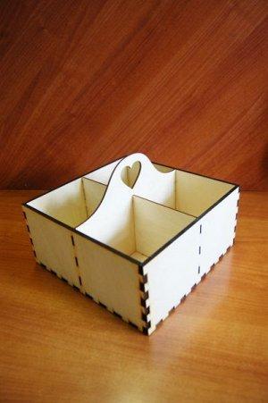 Шкатулка Шкатулка, (продается в разобранном виде в палетках), не комплектуется фурнитурой, размер 26*26*19 см, материал: фанера 6 мм, пр-во: Россия  Шкатулка- короб, предназначена для декорирования и