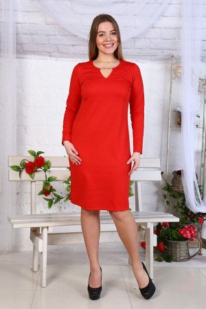 Д433 Платье Кристина (красное)