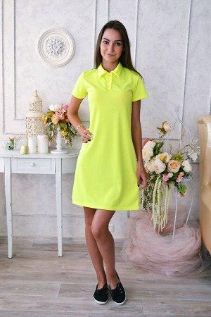 Д472 Платье Поло Лика (желтое)