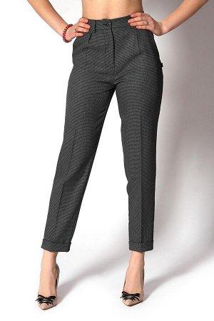 Темно-серые классические укороченные брюки
