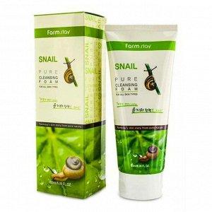 Пенка очищающая с экстрактом улитки FarmStay Snail Pure Cleansing Foam