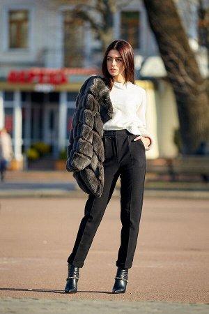 Классические черные укороченные брюки