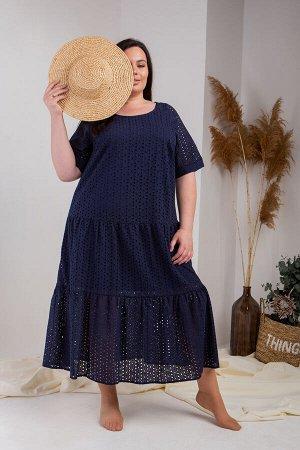 Платье 748-2 темно-синее