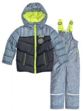 Комплект: куртка на синтепоне; полукомбинезон для мальчика