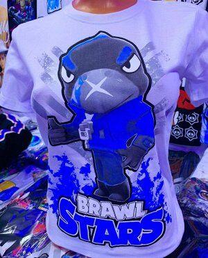 Светящаяся футболка «Brawl stars» Ворон белая