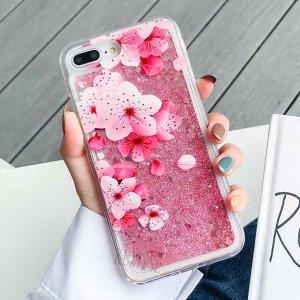 Чехол силиконовый с блестками iphone