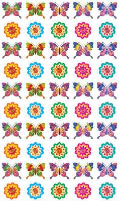 11435 Набор наклеек для поощрения. Бабочки и цветочки....